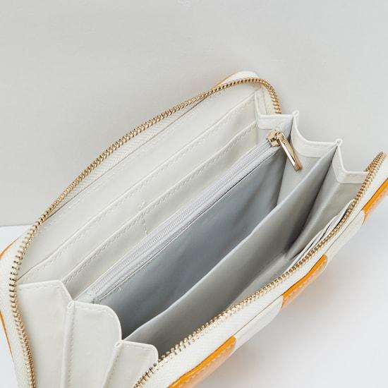 MAX Striped Zip-Around Wallet