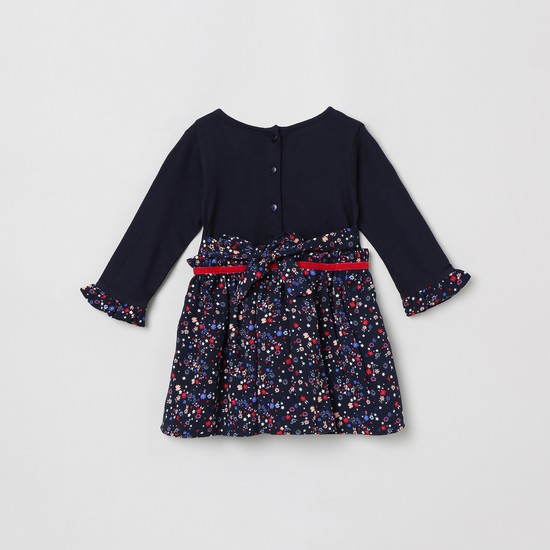 MAX Floral Printed Fit-and-Flare Dress
