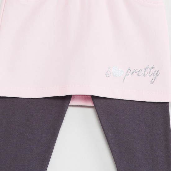 MAX Solid Skirt with Leggings