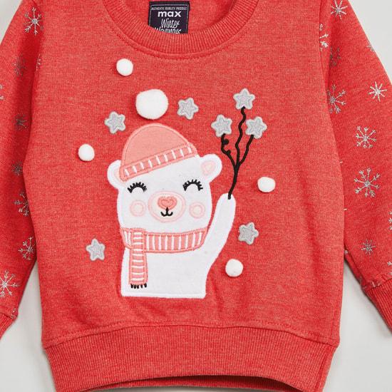 MAX Applique Detail Full Sleeves Sweatshirt