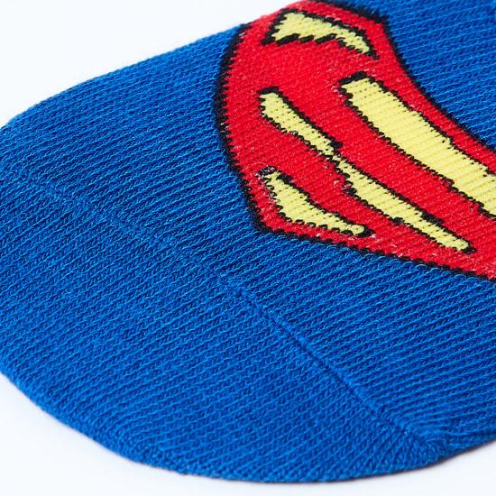 MAX Superman Patterned Footlets - 10-12Y