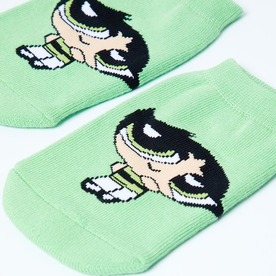 MAX Powerpuff Girls Patterned Footlets - 7-10Y