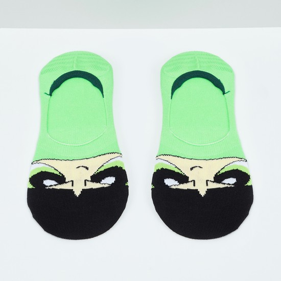 MAX Powerpuff Girls Pattern No-Show Socks