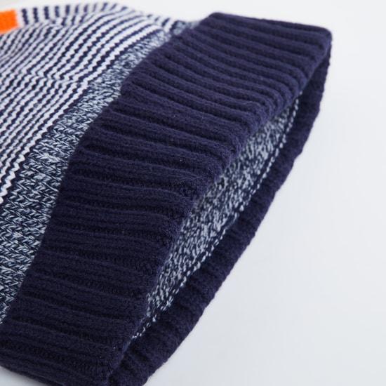 MAX Colourblocked Flat-Knit Beanie