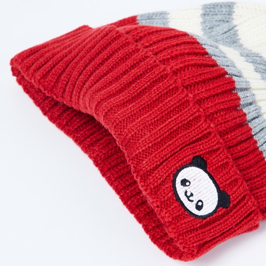 MAX Patch Print Knitted Beanie