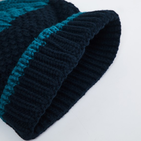 MAX Patterned Knit Colourblock Beanie
