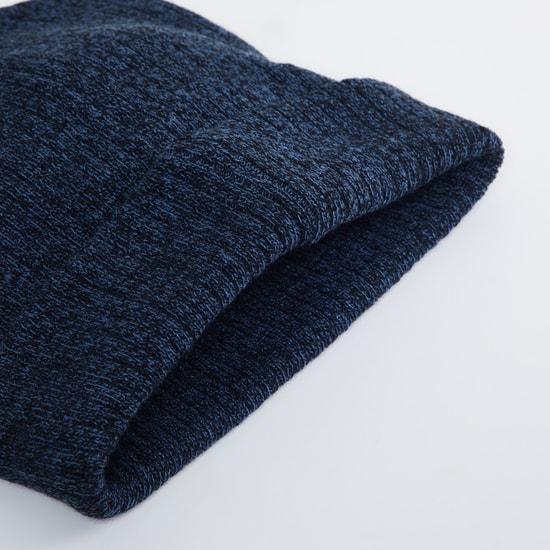 MAX Textured Flat-Knit Beanie