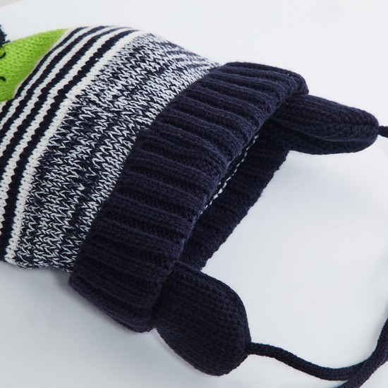 MAX Colourblocked Knitted Beanie with Mittens