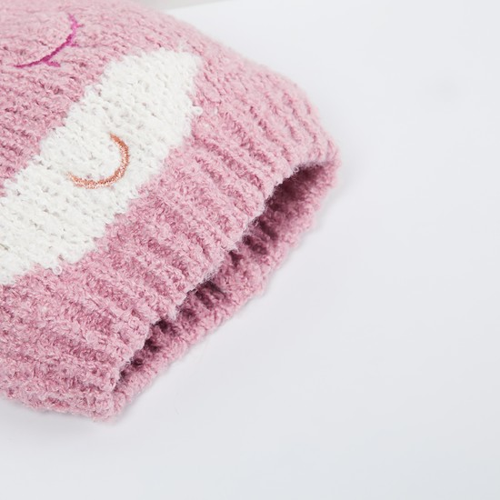 MAX Patterned Knit Beanie with Socks