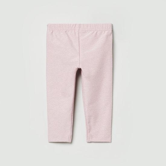 MAX Solid Shimmer Detailed Leggings