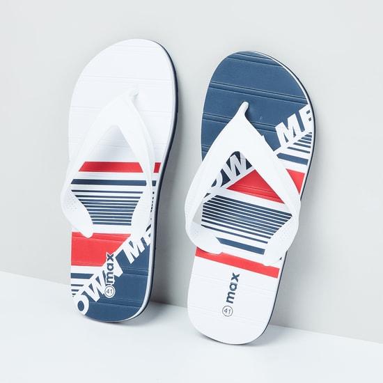 MAX Typographic Print Flip Flops