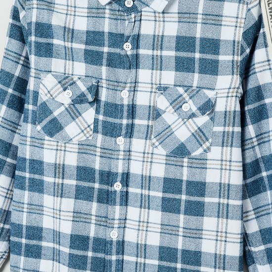 MAX Checked Casual Shirt with Printed Taping