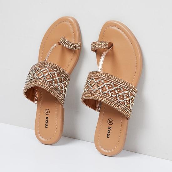 MAX Embellished Toe-Ring Flats