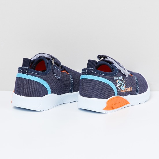 MAX Printed Casual Shoes with Velcro Closure