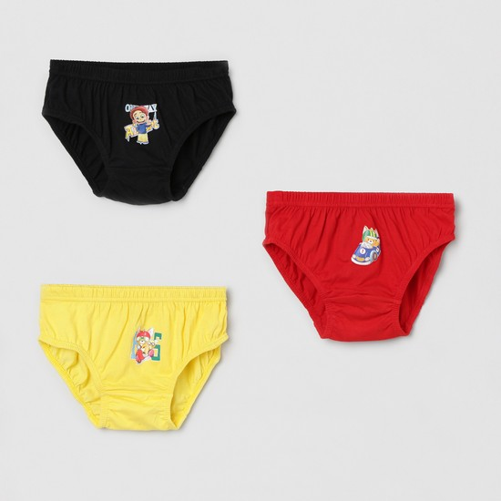 MAX Printed Knitted Briefs - Pack of 3