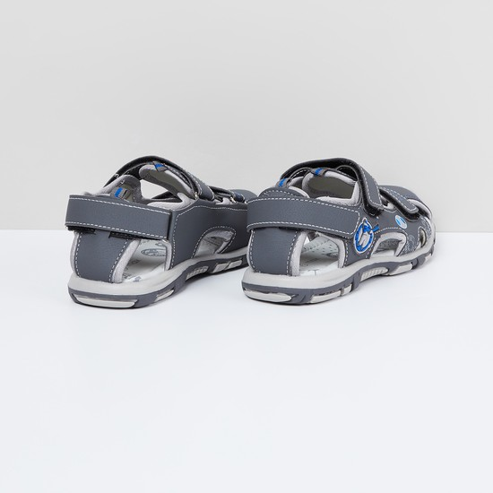 MAX Printed Velcro Strap Sandals