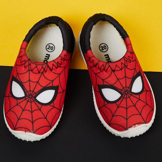 MAX Spiderman Print Slip-On Casual Shoes