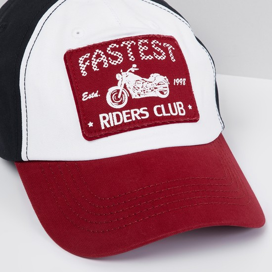 MAX Colourblock Baseball Cap with Printed Patch