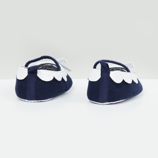 MAX Scalloped Mary Janes with Bow