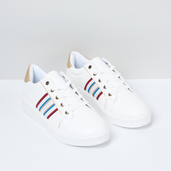 MAX Striped Casual Lace-Up Shoes