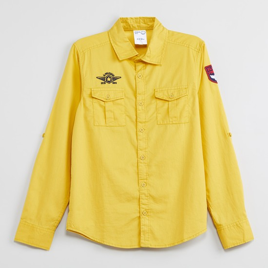 MAX Embroidered Full Sleeves Casual Shirt