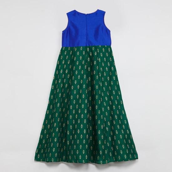 MAX Foil Print Ethnic Dress with Dupatta