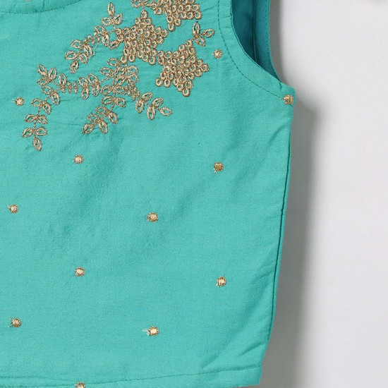 MAX Embellished Blouse with Lehenga and Dupatta