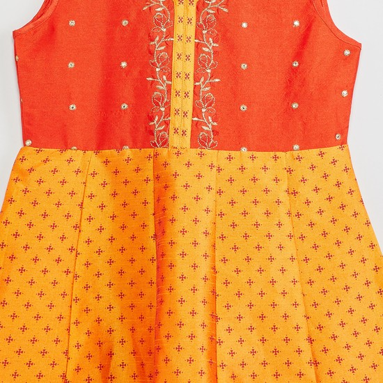 MAX Embroidered A-line Kurta with Churidar and Dupatta