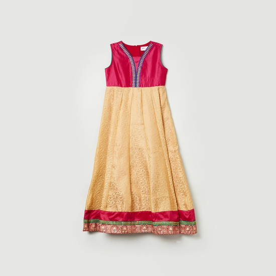 MAX Embroidered Flared Kurta with Salwar and Dupatta