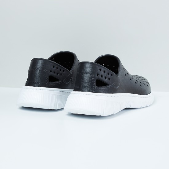 MAX Textured Slip-On Shoes with Cutouts