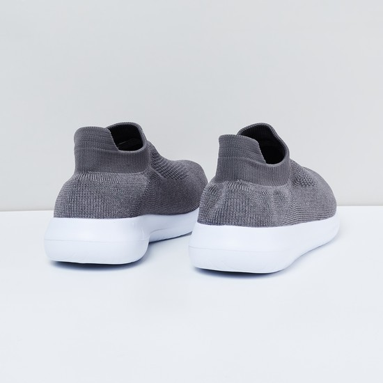 MAX Textured Sock-Knit Slip-On Shoes