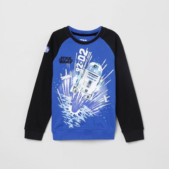 MAX Printed Raglan Sleeves Sweatshirt