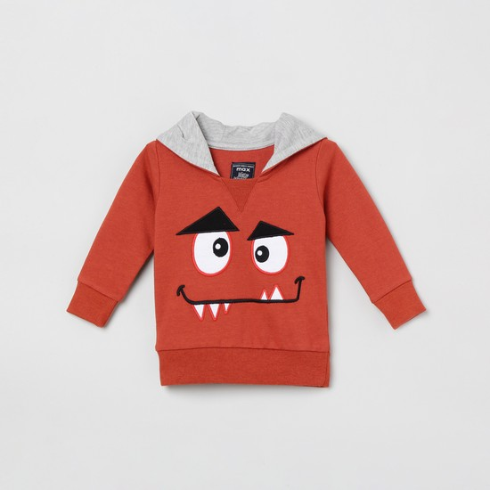 MAX Applique Detailed Hooded Sweatshirt