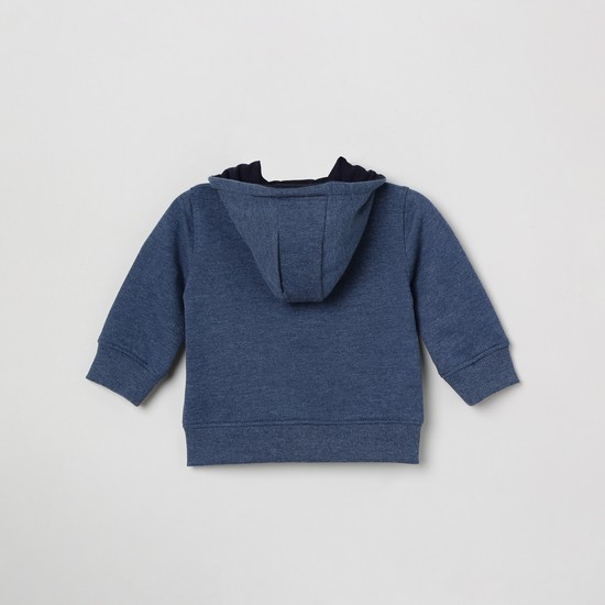 MAX Applique Detailed Open-Front Sweatshirt