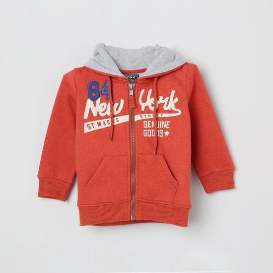 MAX Printed Open-Front Sweatshirt