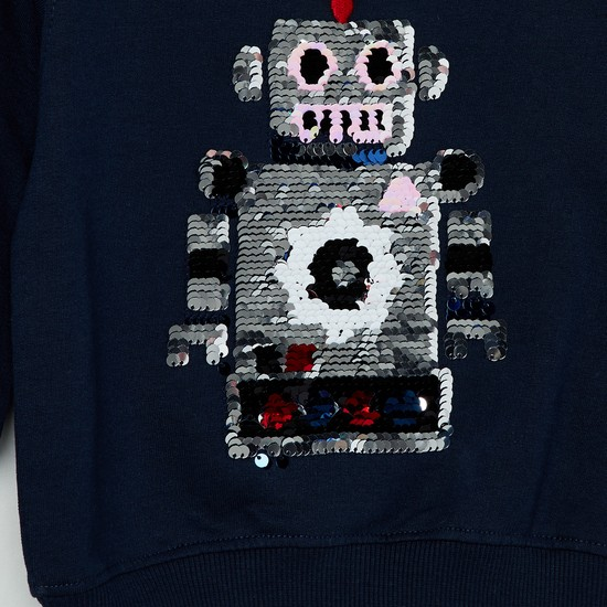 MAX Sequin Embellished Full Sleeves Sweatshirt