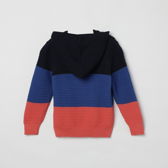 MAX Colourblocked Hooded Sweater