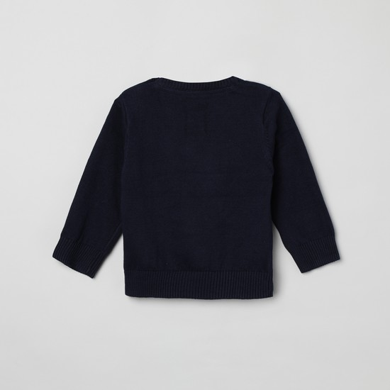 MAX Textured Sleeves Sweater
