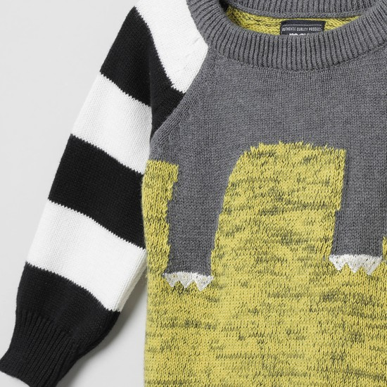 MAX Intarsia Knit Full Sleeves Sweater