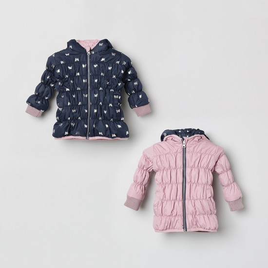 MAX Reversible Zip Front Jacket with Long Sleeves