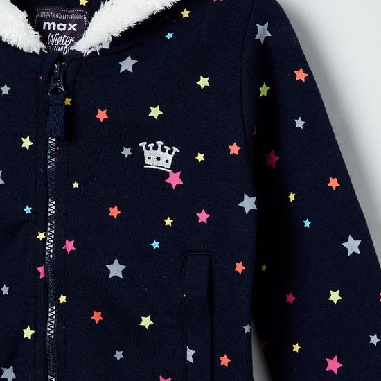MAX Star Printed Hooded Sweatshirt