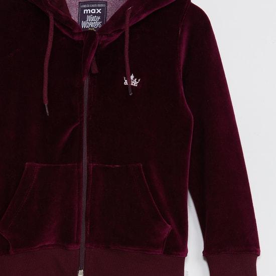 MAX Solid Zip-Closure Hooded Sweatshirt
