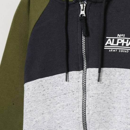 MAX Colourblocked Open-Front Hooded Sweatshirt