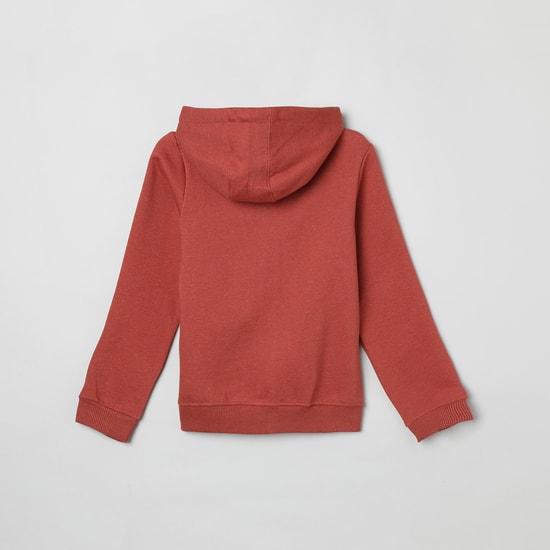 MAX Printed Hooded Sweatshirt with Kangaroo Pockets