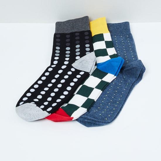 MAX Woven Design Socks- Set of 3