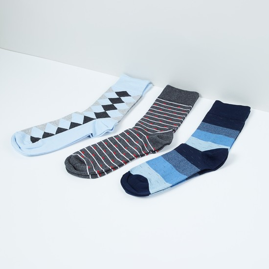MAX Geometric Patterned Socks- Set of 3