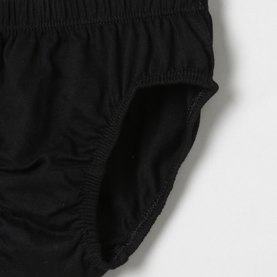 MAX Solid Elasticated Briefs- Pack of 3