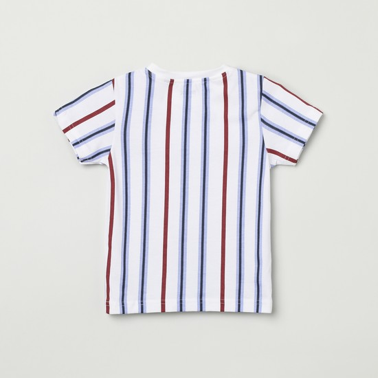 MAX Striped Short Sleeves Crew Neck T-shirt