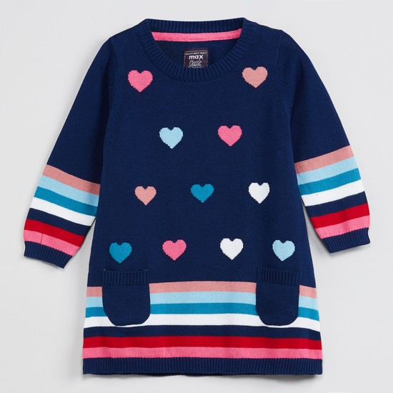 MAX Printed Full Sleeves Sweater