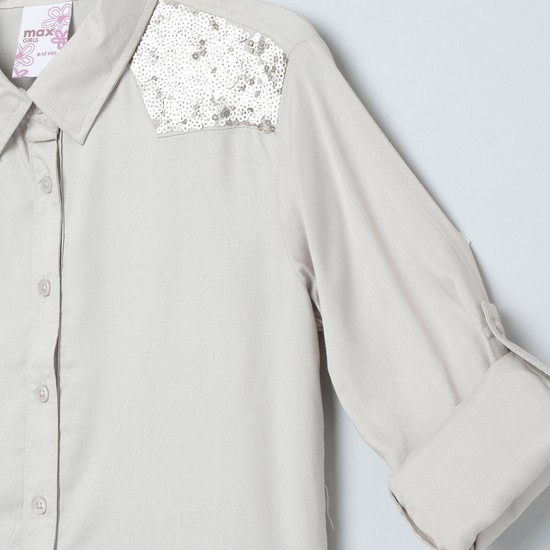 MAX Embellished Full Sleeves Shirt